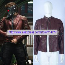Free shipping Custom Made Peter Quill Cosplay Costume Jacket from Guardians of the Galaxy Movie High Quality Christmas Holloween