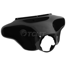 Black Glossy ABS Front Batwing Outer Fairing For Harley Touring Models Street Electra Glide Road King FLHR 1996-2013 front batwing upper fairing cowling shell for harley davidson touring models flhr flht flhx road king electra street glide new