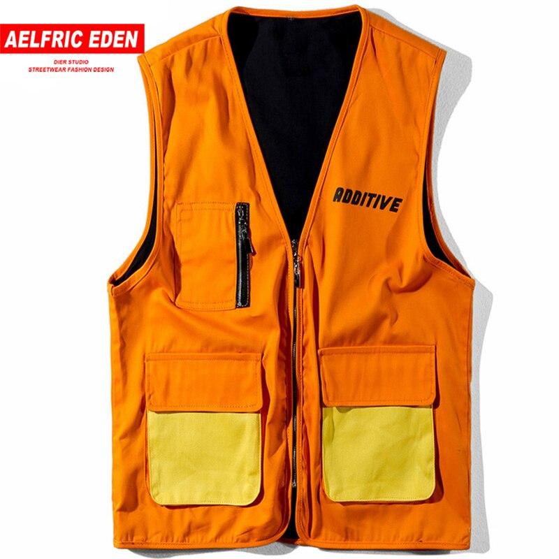 Aelfric Eden Hip Hop Vest Jacket Men Casual Jacket Coat Summer Autumn Waistcoat Fashion Streetwear Harajuku Vest Sportswear Ad05