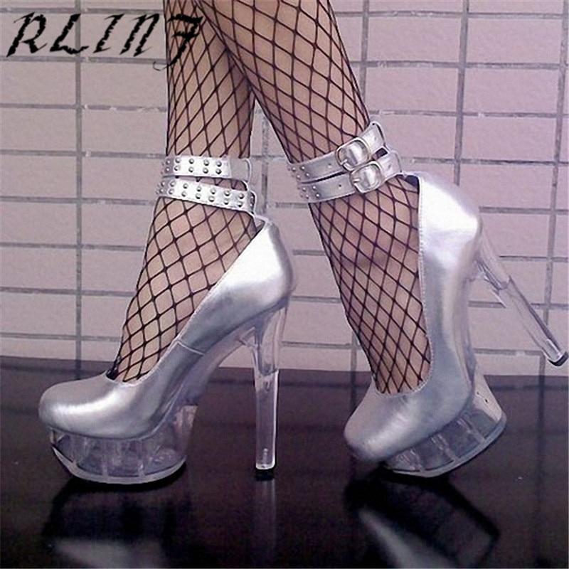 15 Boucle Cm Vent Haute Talon Concise Rlinf Mariage Simples Fétiche Argent De Cristal Sexy Punk Chaussures Rivet Ceinture W7g7vwUZq