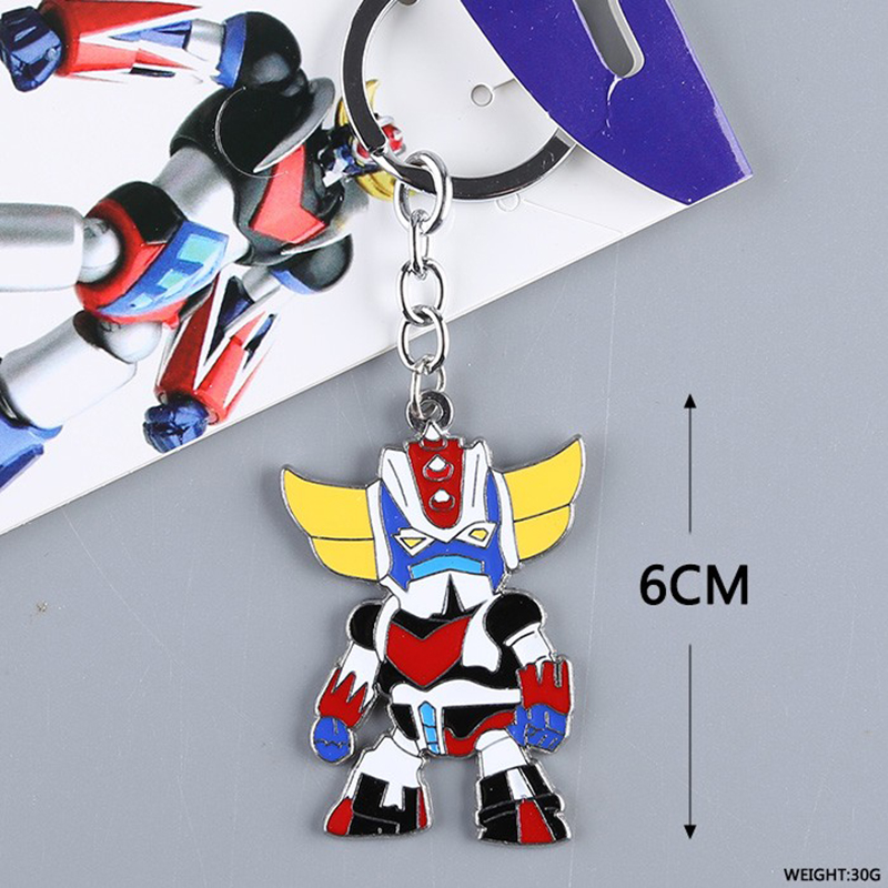 Search For Flights Ufo Robot Grendizer 5pcs/set Pendant Cute Ver Action & Toy Figures Drill Spazer Key Chains Doll Anime Zinc Alloy Material Toy Brinquedos