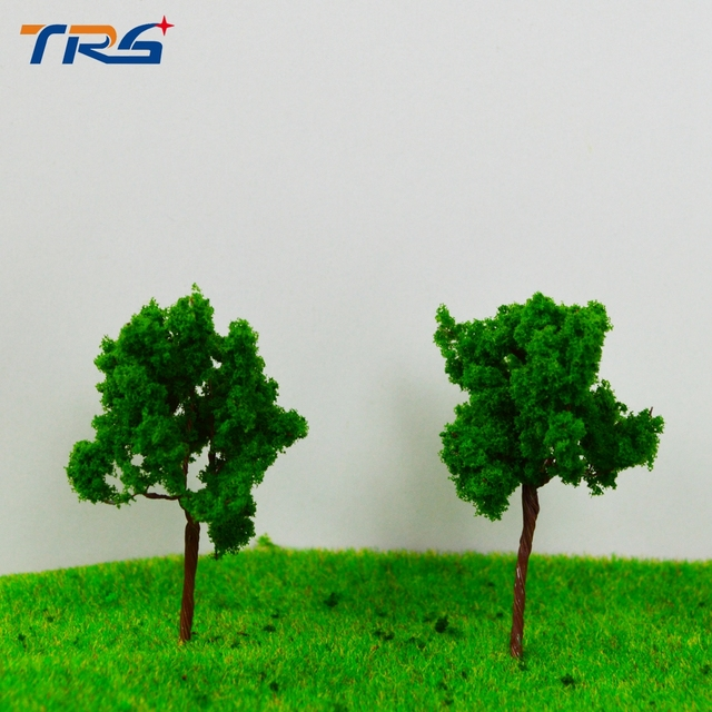 LR-4524 architectural model making building material TREES 45MM Architectural model tree,Scale Train Layout Set Model Trees