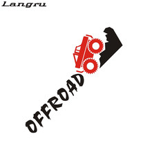 Langru Car 4x4 4wd Off Road Trunk Decals For Suv Truck Vinyl Tailgate Sticker Car Accessories Jdm(China)