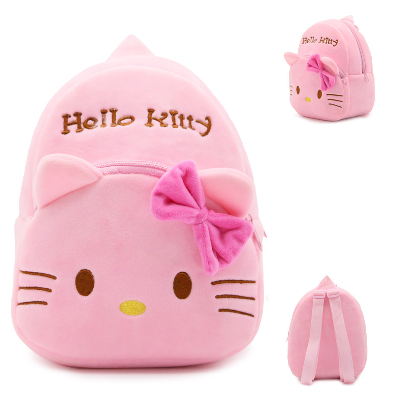 New-arrival-children-plush-backpack-cartoon-bags-kids-baby-backpack-school-bags-Hello-Kitty-bags-for-kindergarten-girls-baby-1