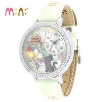 Reloj Mujer M:N: Women Watches Waterproof Ladies Handmade 3D Cat Quartz Wrist Watch Fashion Woman Clock Saat Relogio Feminino