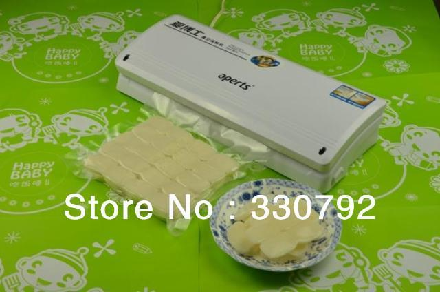 DHL/FEDEX Free Shipping Aperts Household Food Vacuum Sealer + one year warranty + 100 PCS BAGS + 1pc connactor