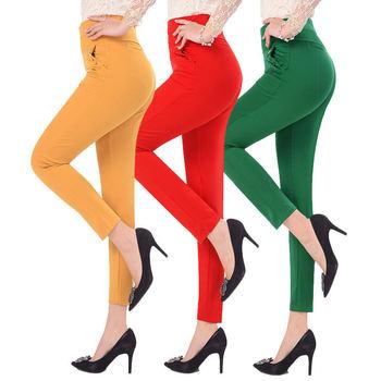 5XL spodnie damskie letnie elastyczna szczupła wysokiej talii spodnie kobiece spodnie spodnie damskie Casual Streetwear Plus rozmiar damskie spodnie biurowe Q1427 tanie i dobre opinie Kobiety Stałe Na co dzień Kostki długości spodnie Archiwalne Kieszenie Przycisk REGULAR Proste biktble Suknem Poliester