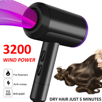 3200W Wind Power Hairdressing Salon Electric Blower Adjustable Speed Hair Dryer Dorm Travel Oudoor Personal Hair Care Device