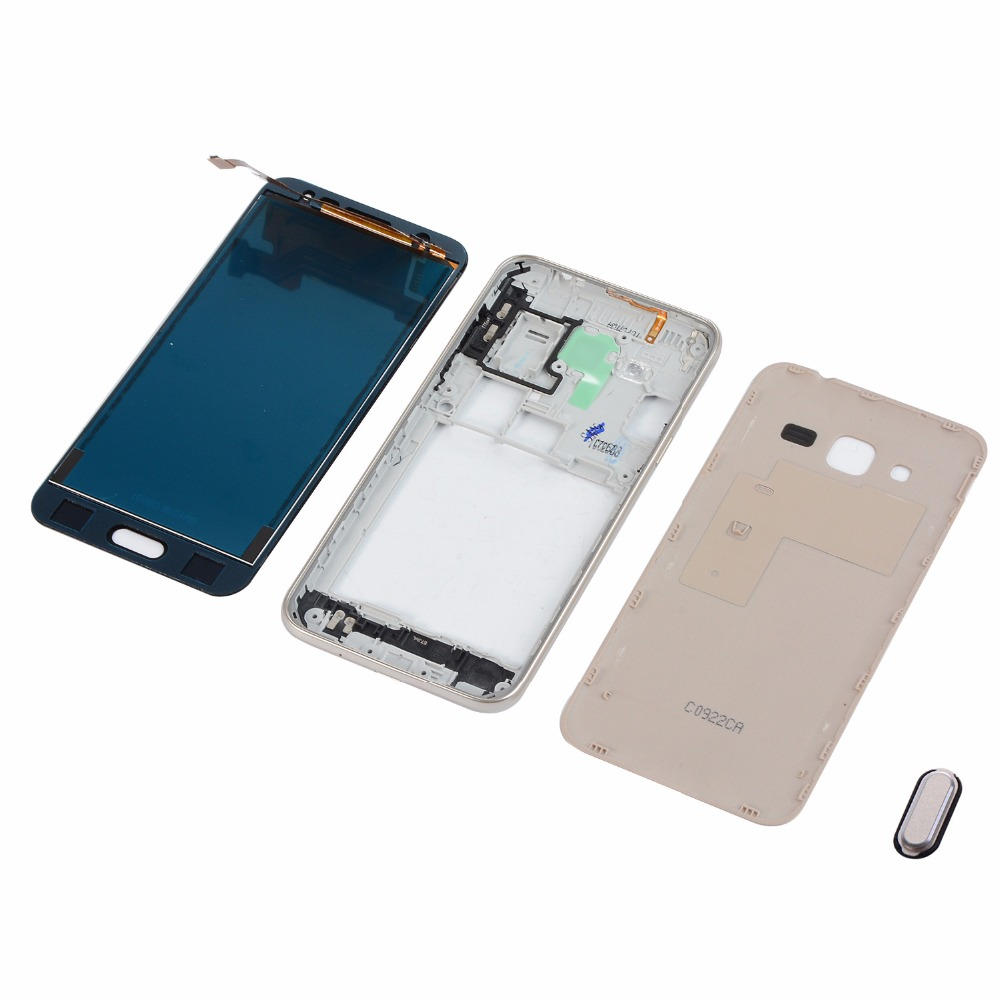 <font><b>LCD</b></font> For <font><b>Samsung</b></font> J3 2016 J320 <font><b>J320FN</b></font> <font><b>LCD</b></font> Display Touch Screen Digitizer+Housing Case Middle Frame Cover+Battery Back Cover image