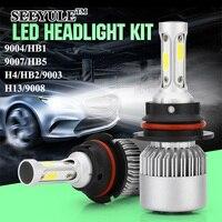 1 Pair SEEYULE New S2 6000K 8000LM Car LED Light Bulbs Headlights Headlamp 9004 HB1 9007
