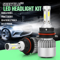 1 Pair SEEYULE New S2 6000K 8000LM Car LED Light Bulbs Headlights Headlamp 9004 HB1 9007