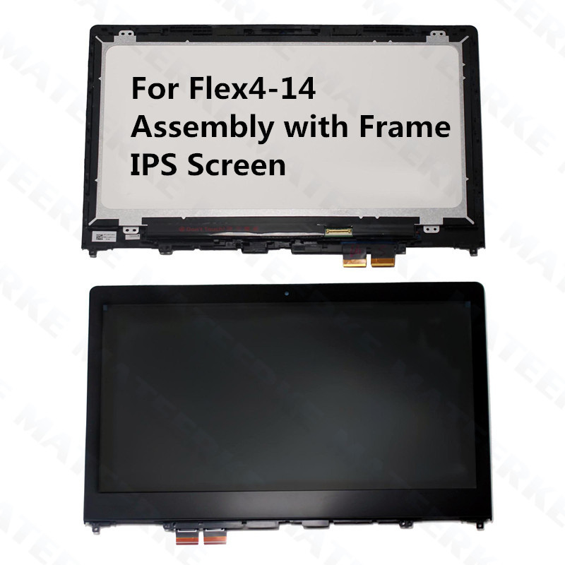 For Lenovo Ideapad Flex4-14 Flex 4-14 Flex 4 14 With Frame IPS LCD Display+Touch Assembly Replacement Parts,1920*1080 4 14 791377