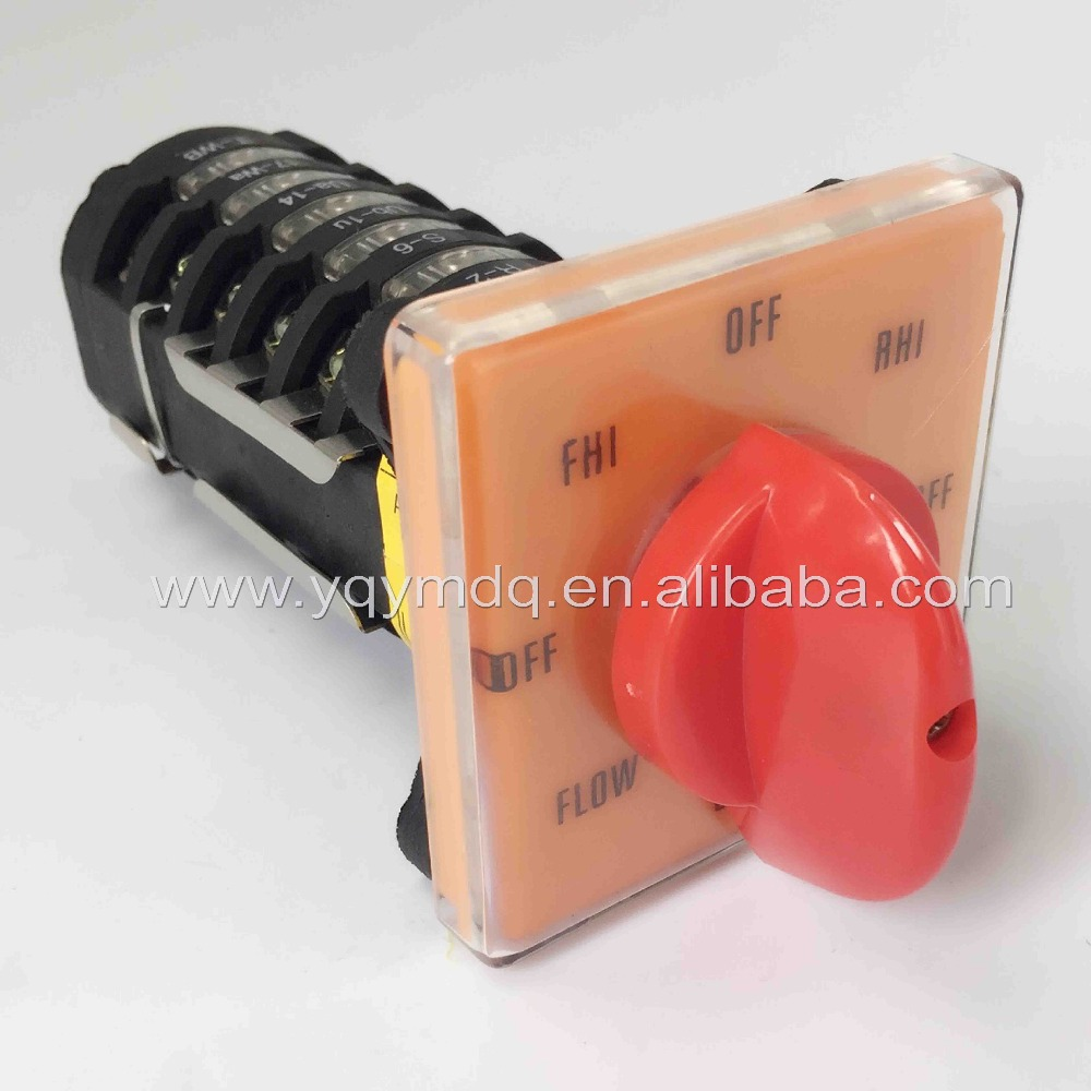 Rotary switch 6 poles T-16EXF64D 8 Position milling machine switch forward-reverse shift changeover universal conversion switch