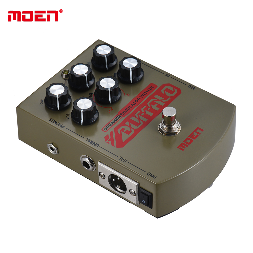 Moen Buffalo Equalizer Effect Pedal Speaker simulator with DI Headphone Ourputs True Bypass for Electric Guitar