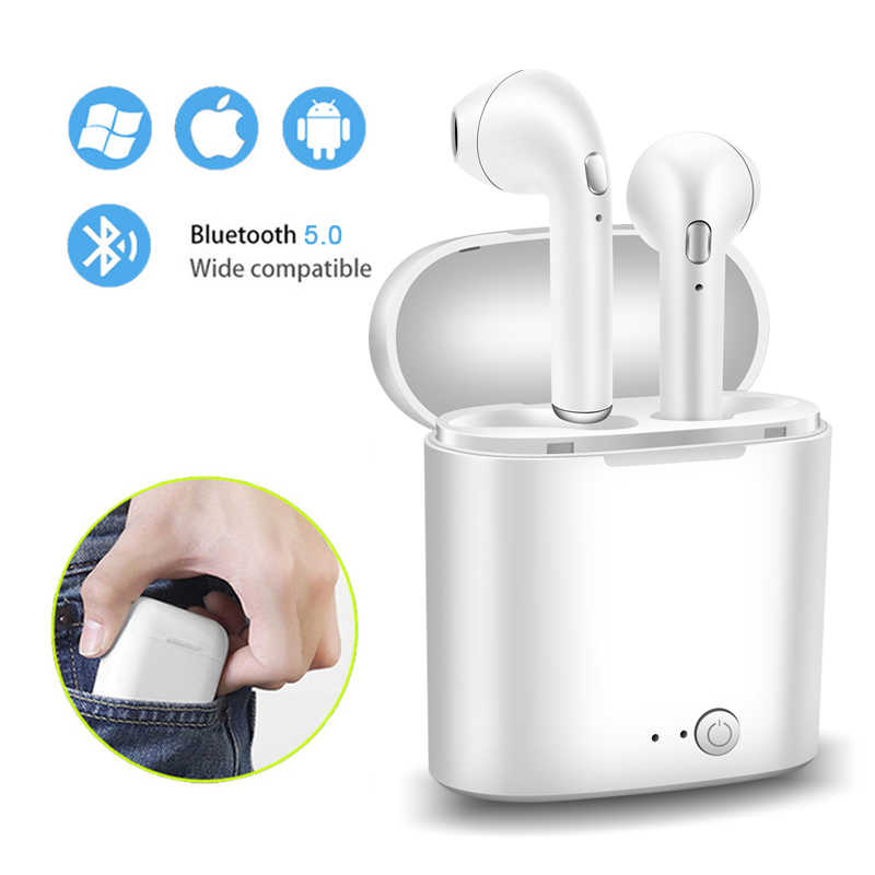 2019 LIGE New TWS Mini Bluetooth 5.0 Earphones Headphones Stereo Bass Wireless Headset Earbuds with Mic for Phone xiaomi Samsung