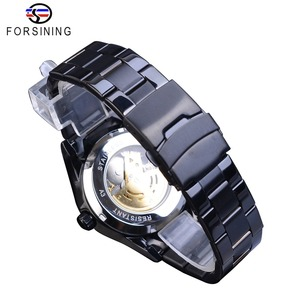 Image 5 - Forsining Silver Dragon Skeleton Automatic Mechanical Men Wrist Watch Full Stainless Steel Strap Clock Waterproof Mens watches