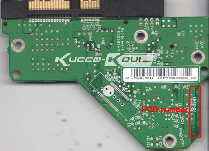 HDD PCB Circuit Board 2060-701444-004 REV A For WD 3.5 SATA Hard Drive Repair Data Recovery