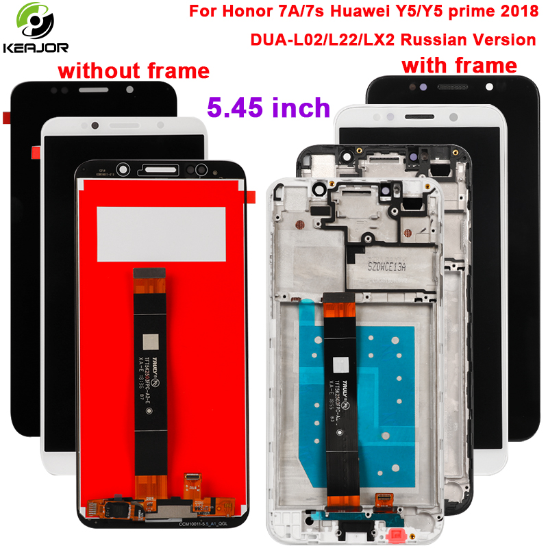 Display For Huawei Honor 7A/7S Lcd display+touch screen Digitizer assembly For Huawei y5/prime 2018 DUA-L02 LX2 Russian VersionDisplay For Huawei Honor 7A/7S Lcd display+touch screen Digitizer assembly For Huawei y5/prime 2018 DUA-L02 LX2 Russian Version