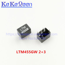 Free Shipping LTM455GW LTM 455GW 455GW LTM455G M50G 2+3 5Pin DIP-5 455KHz ceramic filter For communication 50pcs/Lot