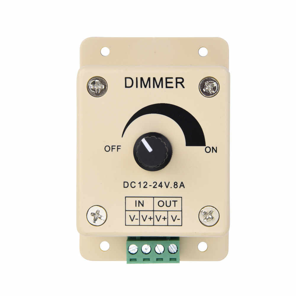 High Quality 12V 8A Dimmer PIR Sensor LED Strip Light Switch Dimmer Brightness Controller Adjustable Brightness Controller