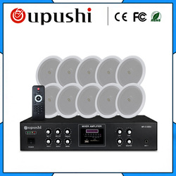 2019 popular audio system with ceiling speaker and power amplifier used in commercial public address system for hotel restaurant