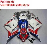 Injection Molding Motorcycle Fairing Kit For HONDA Cbr600rr 2009 2010 2011 2012 CBR 600 RR Red