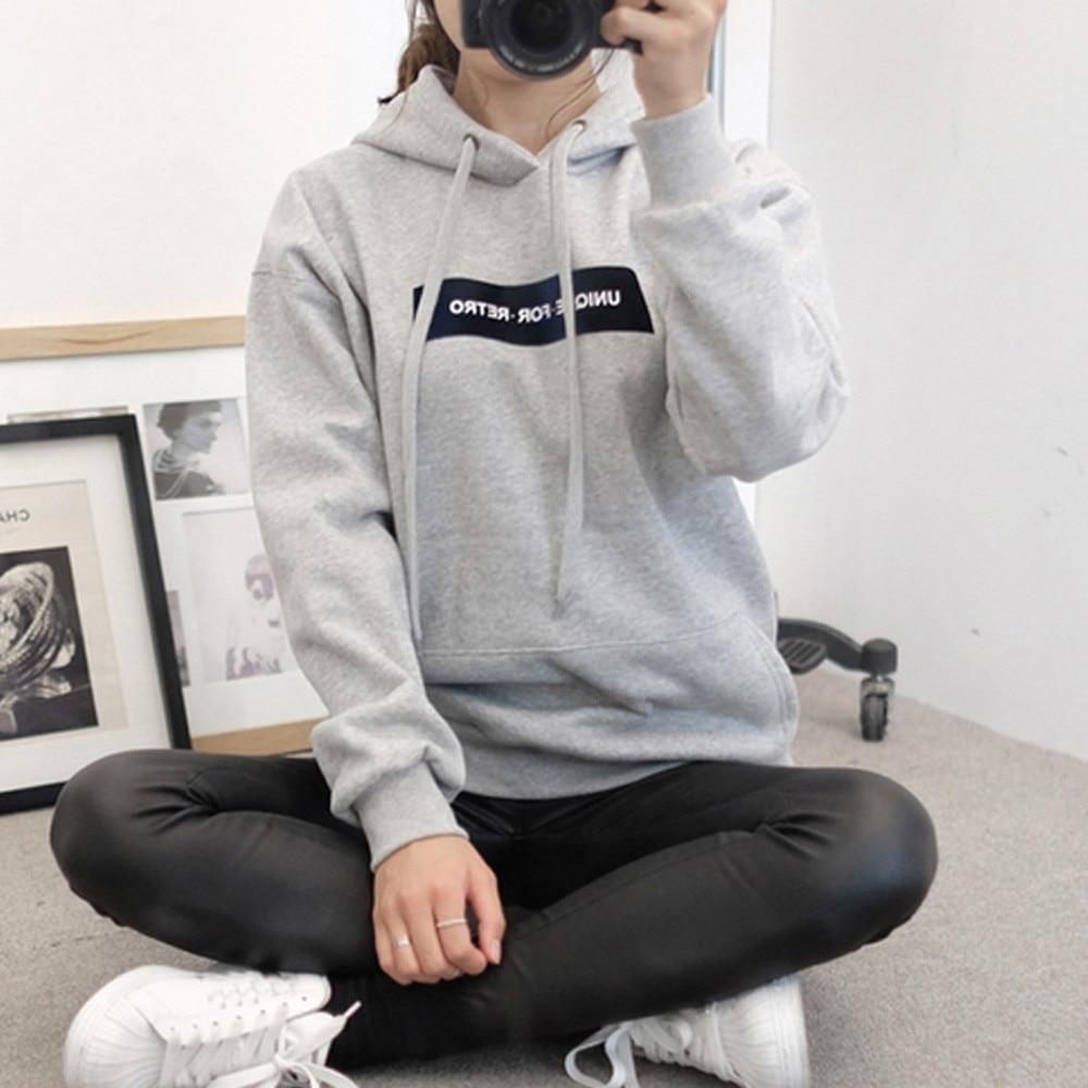 Mooistar #W003 Womens Female Pop Sweatshirt Tracksuit Long Sleeve Hoodie Sweatshirt Plus Size Jumper Hooded Pullover Tops Blouse
