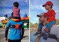 New Hot Hands-Free Transportadora Ombro Cinta De Nylon Criança Piloto para 2-5 Anos de Idade As Crianças Do Bebê Mais Seguro canguru Envoltório Estilingue Suspensórios