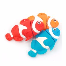 Hot Sale Cartoon Color Fish USB Flash Drive  Pendrive 4GB 8GB 16GB USB Stick External Memory Storage Pen Drive