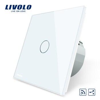 Công tắc cảm ứng Livolo Tiêu Chuẩn EU Không Dây Công Tắc 1 Gang 2 Cách AC 220 ~ 250 V, Với Chức Năng Điều Khiển, c701SR-1/2/3/5, không có bộ điều khiển từ xa
