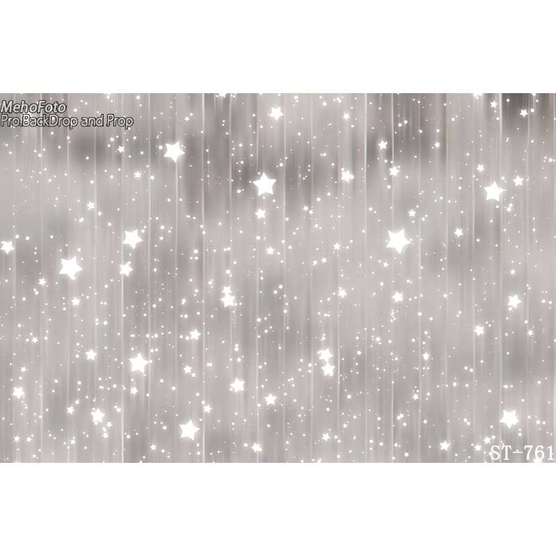Christmas photography backdrop thin Art fabric newborn pet silver bokeh photography background ST-761
