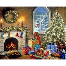 New Rushed Diy Mosaik inlay 5d Malerei Voll Gesamte Quadrat Bohrer Kunst Diamant Stickerei Kreuzstich kits weihnachtsgeschenk Landschaft