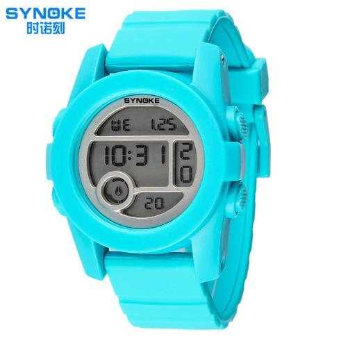 5 COR Da Moda Azul Turquesa Das Mulheres Dos Homens Casual Esporte Ao Ar Livre Estudante Digital Alarme Cronômetro Relógio de Pulso Luminoso
