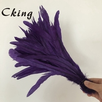 16 18inch rooster tails Feather Purple Chicken Cock feathers
