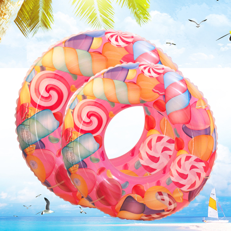 Funny Inflatable Swim Ring Swimming Kayak Floating Adults Baby Kids Swim Inflatable Pool Toys