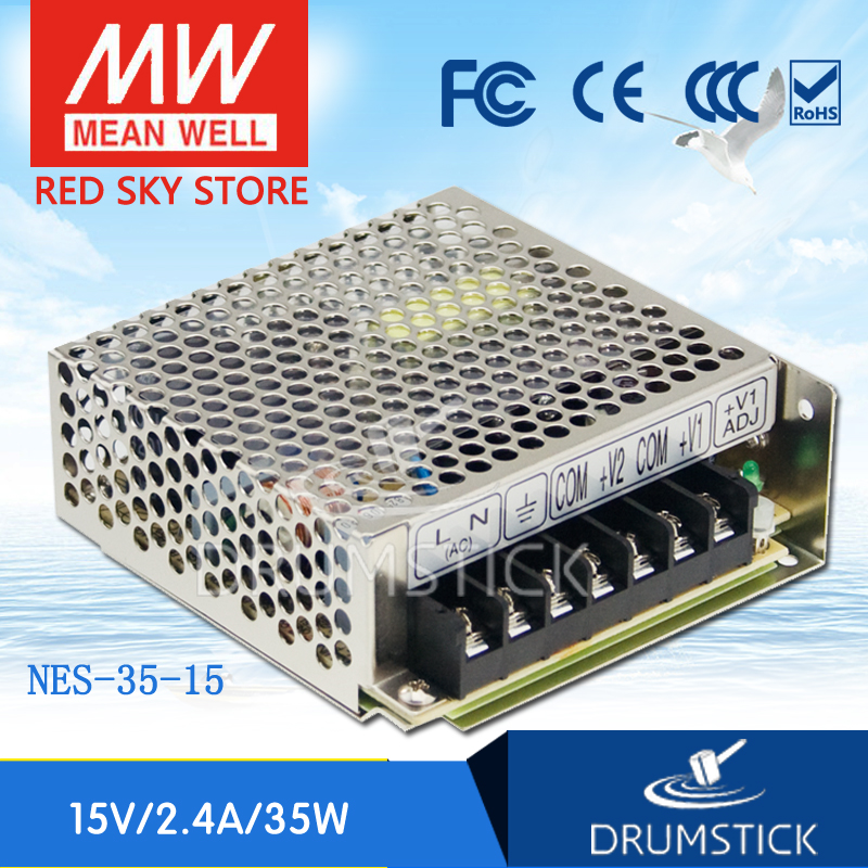 Best-selling MEAN WELL NES-35-15 15V 2.4A meanwell NES-35 15V 36W Single Output Switching Power Supply original mean well nes 350 12 ac to dc single output 350w 29a 12v meanwell power supply nes 350