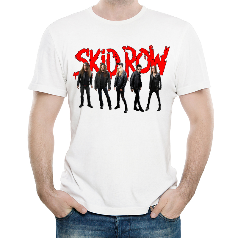 <font><b>Skid</b></font> <font><b>Row</b></font> <font><b>T</b></font> <font><b>Shirt</b></font> White Color Mens Fashion Print Short Sleeve <font><b>Skid</b></font> <font><b>Row</b></font> Logo <font><b>T</b></font>-<font><b>shirt</b></font> Tops Tees tshirt Casual <font><b>T</b></font>-<font><b>shirt</b></font> image