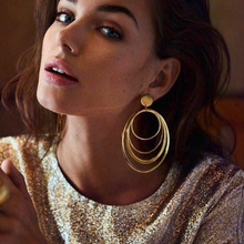 RscvonM New Boho Fashion Jewelry Accessories Bohemia Big Hollow Circle Design Hoop Earring Best Gift For Lover's Girl Wholesale