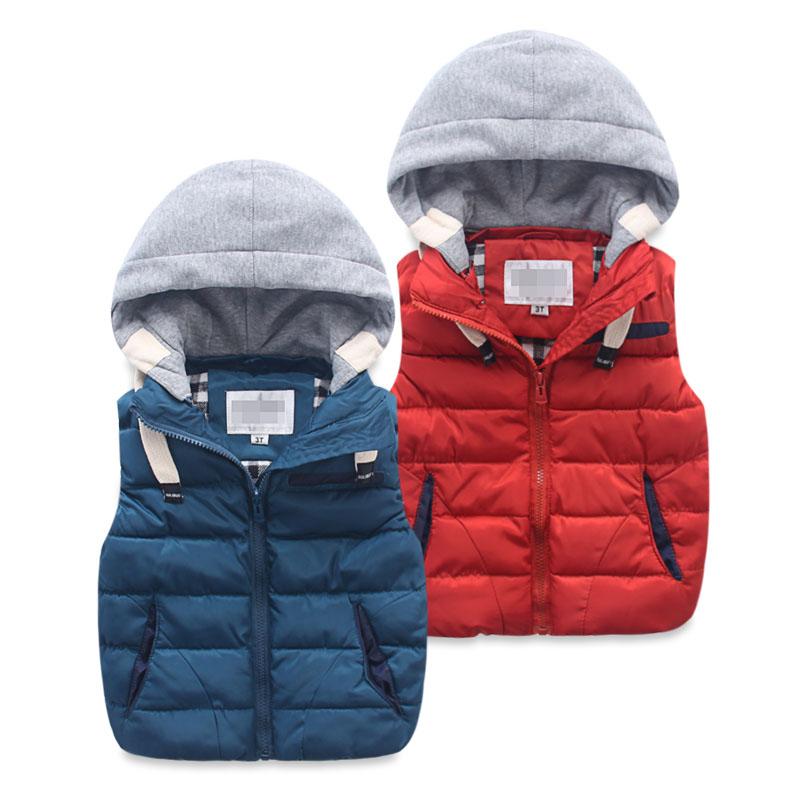 LittleSpring Little Boy Fleece Vests Zipper Solid Red 6//7