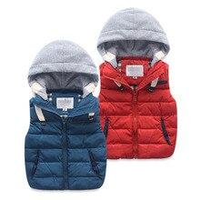 Crianças colete crianças algodão acolchoado engrossar colete crianças outwears colete bebê menino & meninas inverno quente jaqueta roupas de bebê topos