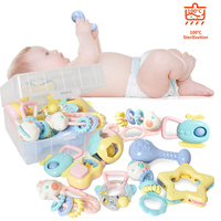8pcs Baby Toys 0 12 Months Rattles oyuncak Shake Hand Rattle Children Teether Educational toy Newborns Gift Bed Bell For Girls