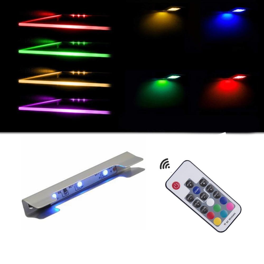 edge lighting glass clip light