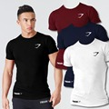 Stylish men's T-Shirt cotton short sleeve shirt Bodybuilding Slim fit Fitness for Male Wear Clothing solid streetwear Casual