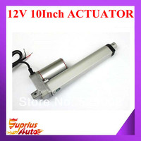 12V actuator linear, 250mm/ 10inch stroke, 900N/90KG/198LBS load linear actuator