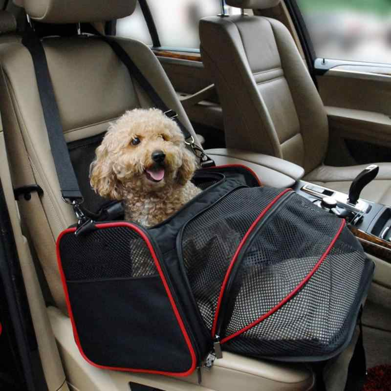 Expandable Pet Carrier Airline Approved Dog Car Seat For Small Dogs Cats Soft Sided Crate Portable Kennel Car Travel Bag Carrier