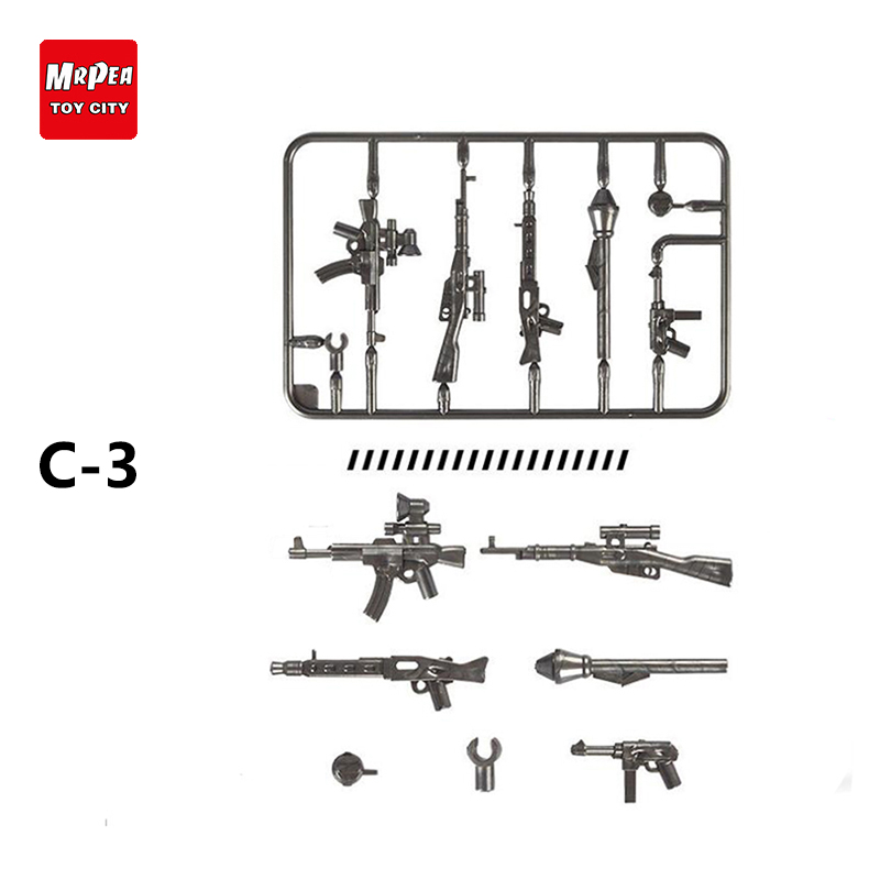 Military Series Weapons Pack Police Gun Swat Gun Army Weapon Building Blocks DYI