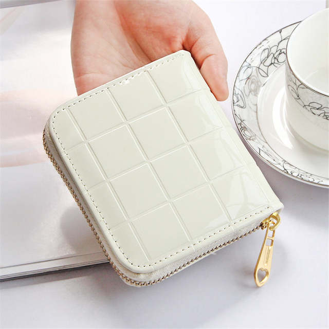 dc544ab180d1 Women Coin Purses Small Change Purses Short Wallet Patent Leather Coin Bag  Card Holder Pouch Mini