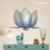 2017 Nova 48/50/60/80 CM material de Pano LÍRIO LOTUS forma das crianças miúdo Dos Desenhos Animados quarto pingente de luz E27 5 W lâmpada LED Frete grátis