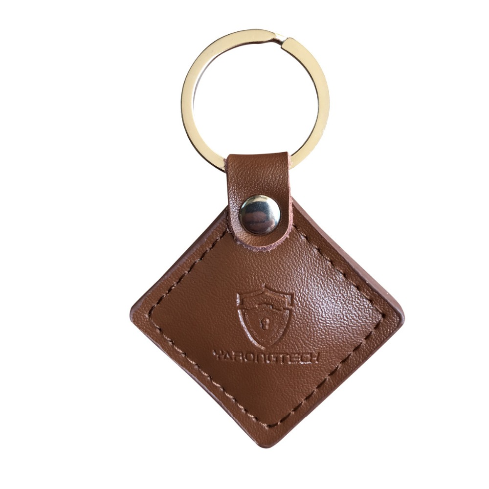 125khz Rfid Rewritable Genuine Leather Keyfob T5577 Chip (pack Of 2)