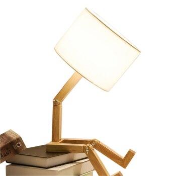 مصابيح LED مع 5 W لمبة الجدول مصباح الموفرة للطاقة الداخلية الديكور مصباح غرفة نوم بسيطة الحديثة الخشب جودة ليلة ضوء